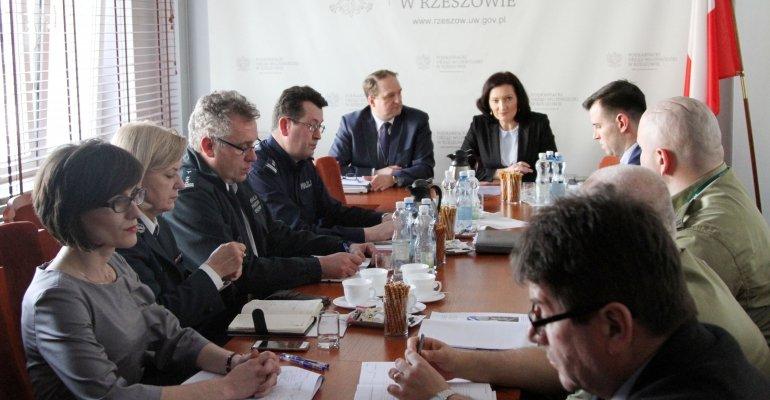 Posiedzeniu Wojewódzkiego Zespołu Zarządzania Kryzysowego