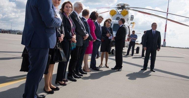Powitanie delegacji niemieckiej