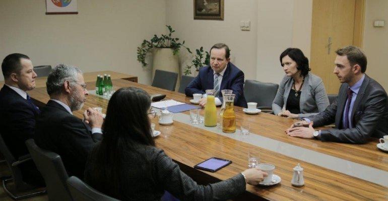 Spotkanie z przewodniczącym grupy Europejskich Konserwatystów i Reformatorów
