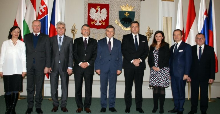 Spotkanie szefów izb parlamentarnych z Czech, Słowacji, Polski i Węgier