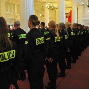 Uroczyste ślubowanie policjantów