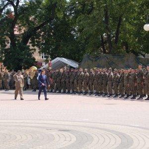 Uroczysta przysięga żołnierzy Terytorialnej Służby Wojskowej