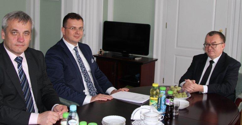 Spotkanie wicewojewody z podsekretarzem stanu Jerzym Szmitem