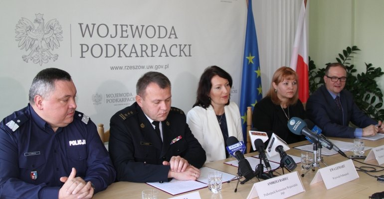 Przygotowanie województwa do zimy – konferencja prasowa wojewody