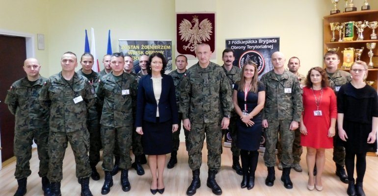 Wizyta w 3 Podkarpackiej Brygadzie Obrony Terytorialnej