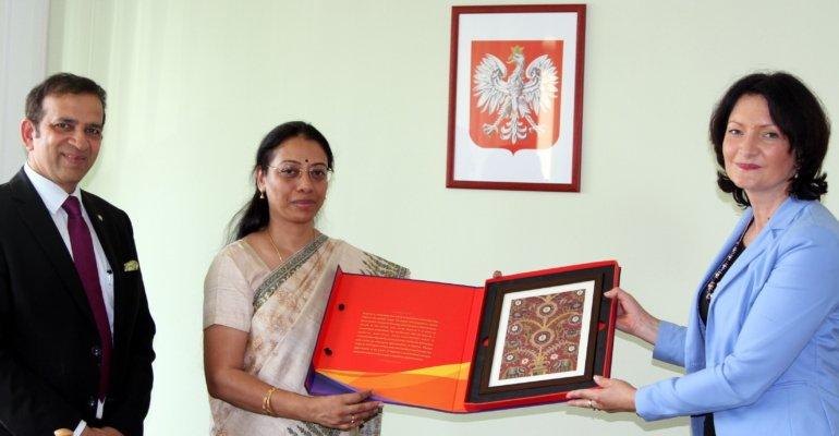 Ambasadr Indii z wizytą u wojewody