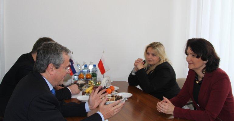 Wizyta kurtuazyjna ambasadora Słowenii