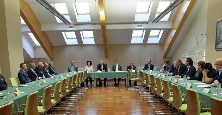 Spotkanie rektorów szkół wyższych Podkarpacia