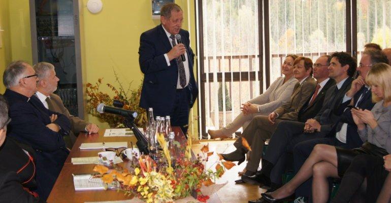 Minister środowiska w Cisnej