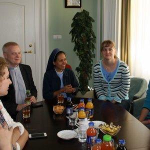 Wicewojewoda spotkał się z pielgrzymami z Rosji