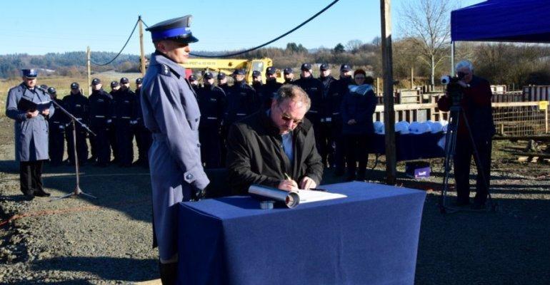 Budowa nowej Komendy Policji w Lesku