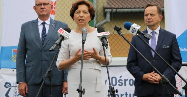 Wizyta minister Maląg w Chorzelowie