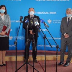 Konferencja prasowa wojewody na temat sytuacji epidemicznej